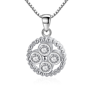 6eb6cc69f9 Women's Cubic Zirconia Pendant Necklace Romantic Chrome Silver 45 cm  Necklace Jewelry 1pc For Gift Daily