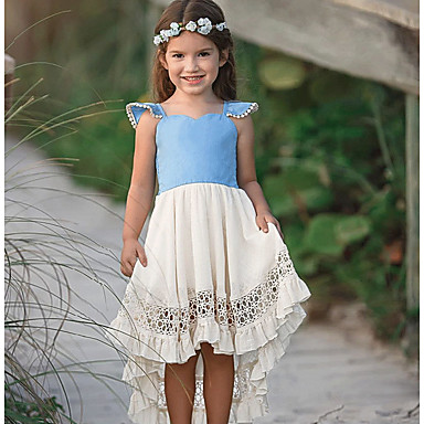 46e578571 cheap Baby Girls' Dresses-Baby Girls' Basic Color Block