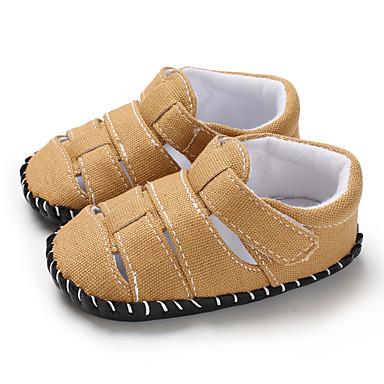 baratos Para Crianças de 0-9 Meses-Para Meninos Lona Sandálias Crianças (0-9m) / Criança (9m-4ys) Primeiros Passos Azul Escuro / Cinzento / Marron Verão