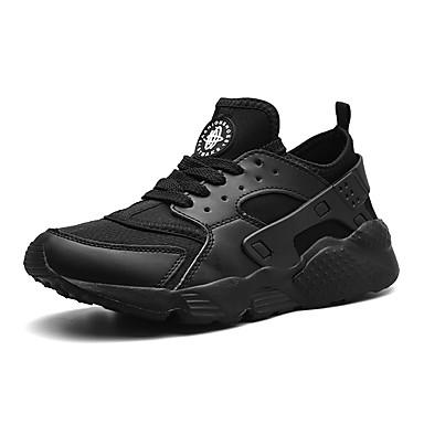 בגדי ריקוד גברים אור סוליות בד גמיש אביב קיץ ספורטיבי נעלי אתלטיקה נושם שחור / אדום / ירוק כהה