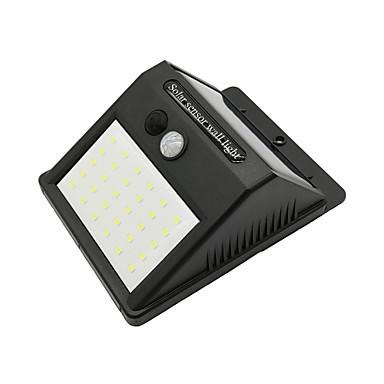 billige Utendørsbelysning-2pcs 6 W Solar Wall Light Vanntett / Solar / Infrarød sensor Kjølig hvit 3.7 V Utendørsbelysning / Courtyard / Have 30 LED perler