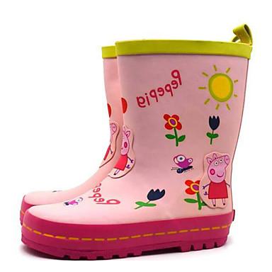 baratos Sapatos de Criança-Para Meninas Borracha Botas Little Kids (4-7 anos) / Big Kids (7 anos +) Botas de Chuva Rosa claro Primavera / Botas Cano Médio