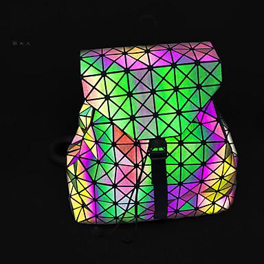 povoljno Dječje torbe-Žene / Djevojčice Patent-zatvarač ruksak Velika zapremnina Posebna materijala Geometrijski uzorak Duga / Jesen zima