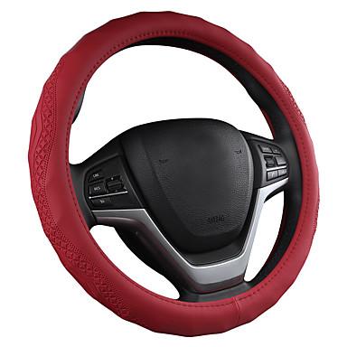 voordelige Auto-interieur accessoires-driedimensionale lederen antislip concave en convexe golf verticale auto stuurhoes // zwart / paars / rood / beige / grijs / stuurwiel vier seizoenen