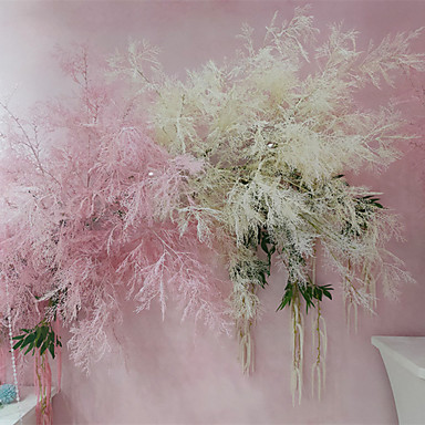 פרחים מלאכותיים 1 ענף קלאסי אביזרי במה חתונה צמחים פרחים נצחיים פרחים לקיר