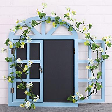 פרחים מלאכותיים 1 ענף קלאסי להתקנה על הקיר מסורתי חתונה פרחים נצחיים פרחים לקיר