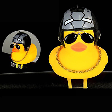 billige Sykkeltilbehør-Sykkelklokke Frontlys til sykkel Gult, lite Duck Shape Vanntett Lettvekt Shining Stretch Holdbar til Vei Sykkel Fjellsykkel Sykling silica Gel Rød Blå Grå 1 pcs