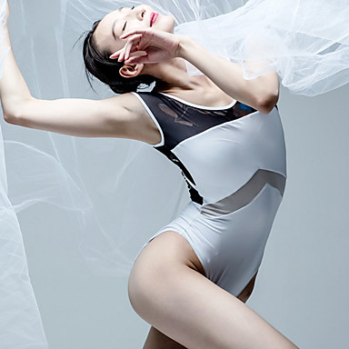 בלט בגדי גוף בגדי ריקוד נשים הדרכה פוליאסטר דוגמא \ הדפס ללא שרוולים / סרבל תינוקותבגד גוף