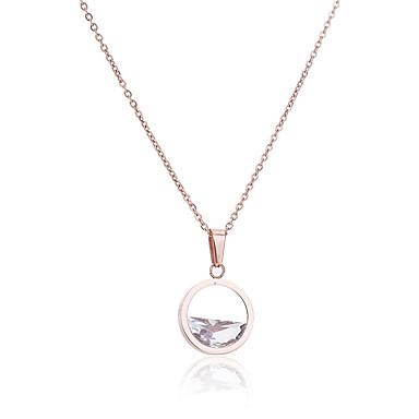 abordables Colliers-Collier Pendentif Femme Classique Clair Doux Elégant Adorable Argent 45 cm Colliers Tendance Bijoux 1pc pour Quotidien Rond