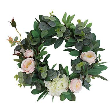 פרחים מלאכותיים 1 ענף קלאסי מסוגנן צמחים פרחים לשולחן