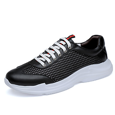 בגדי ריקוד גברים נעלי נוחות רשת קיץ ספורטיבי / יום יומי נעלי אתלטיקה ריצה / הליכה נושם שחור