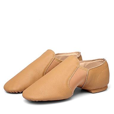 billige Jazz-sko-Dame Dansesko Saueskinn Jazz-sko Flate Flat hæl Svart / Brun / Trening / Ytelse
