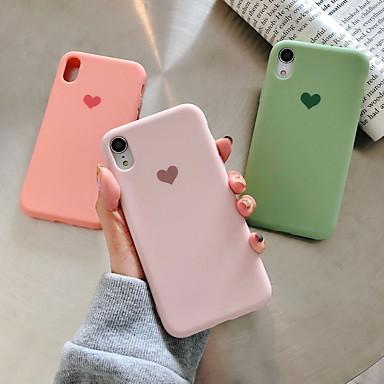 hesapli iPhone Kılıfları-Pouzdro Uyumluluk Apple iPhone XR / iPhone XS Max / iPhone X Temalı Arka Kapak Kalp Yumuşak Silika Jel