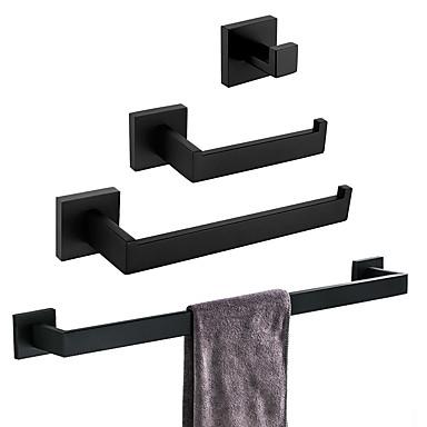 סט של אביזרים לאמבטיה עיצוב חדש / יצירתי עכשווי / מסורתי מתכת אל חלד / פלדת אל חלד / ברזל / מתכת 4pcs - חדר אמבטיה מותקן על הקיר
