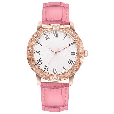 baratos Relógios Senhora-Mulheres Relógios de Quartzo Casual Fashion Preta Branco Rosa Couro PU Chinês Quartzo Preto Rosa Vermelho Rosa Fofo Criativo Relógio Casual 1 Pça. Analógico