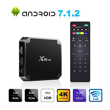 billige TV-bokser-X96 mini Tv Boks Android7.1.1 Tv Boks Amlogic S905W 1GB RAM 8GB ROM Kvadro-Kjerne