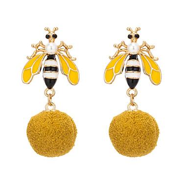 בגדי ריקוד נשים עגילי טיפה טרופי דבורה אומנותי טבע מגניב עגילים תכשיטים צהוב עבור Party יוֹם הַשָׁנָה יומי זוג 1