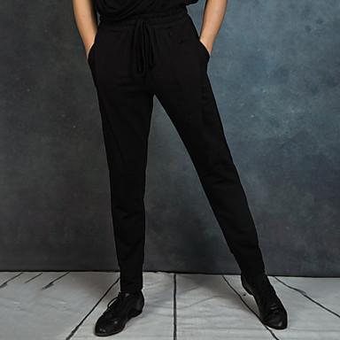 ריקוד לטיני חלקים תחתונים בגדי ריקוד גברים הצגה ספנדקס סלסולים טבעי מכנסיים
