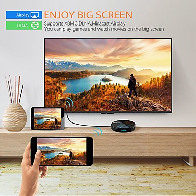Android 90 Smart TV Box GBooGBle Assistant RK3328 TV Receiver 4K