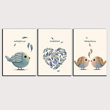 דפוס הדפסי בד מגולגל - מופשט חיות קלסי מודרני שלושה פנלים הדפסים אמנותיים