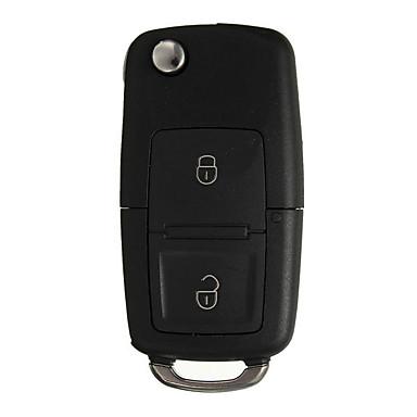 voordelige Auto-interieur accessoires-Sleutelbehuizing met 2 knoppen, autoschaal met schroevendraaier voor VW