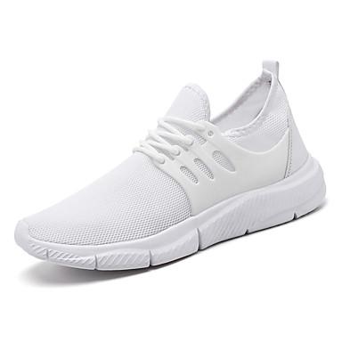 בגדי ריקוד גברים נעלי נוחות רשת אביב קיץ / סתיו חורף ספורטיבי / יום יומי נעלי אתלטיקה ריצה / הליכה לבן / שחור / אדום