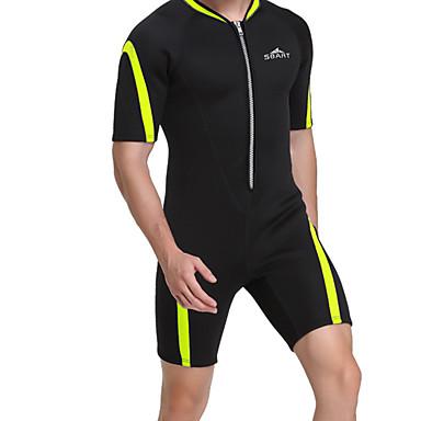 בגדי ריקוד גברים חליפה רטובה קצרה 2mm CR נאופרן חליפות צלילה גמישות גבוהה חצי שרוול רוכסן קדמי טלאים סתיו אביב קיץ