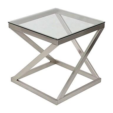 זכוכית מודרנית מסגרת מתכת סוף סוף שולחן