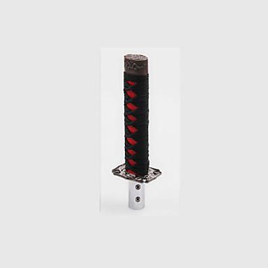 voordelige Auto-interieur accessoires-15 cm universele samurai zwaard versnellingspookknop shifter katana metalen blackred