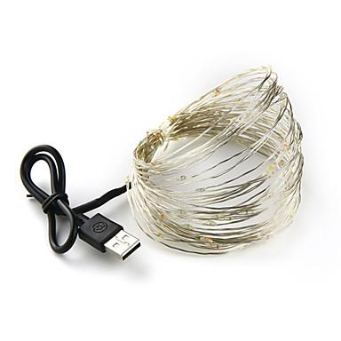 LOENDE 2m חוטי תאורה 20 נוריות לבן חם / RGB / לבן Party / דקורטיבי / חתונה מופעל באמצעות USB