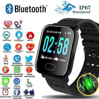 hesapli Akıllı Bileklikler-A6 s akıllı bileklik İzle kalp hızı monitörü kan basıncı ios android için aktivite spor izci bilezik akıllı bant