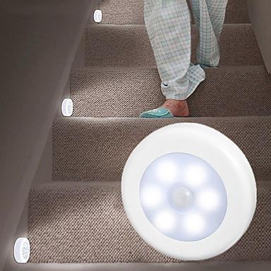4pcs הוקי הוקי אינדוקציה אור חינם התקנה מגנטית להדביק הרצפה הקבינט עגול אור שליטה עין האכלה הלילה אור