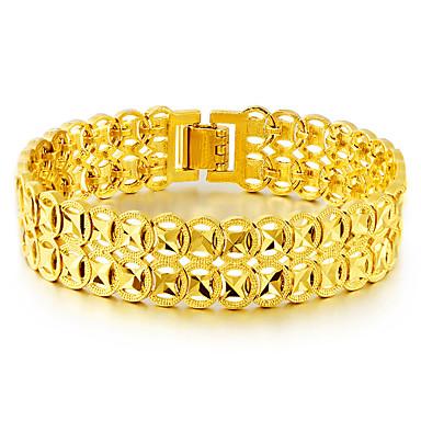 voordelige Herensieraden-Heren Goud Armbanden met ketting en sluiting meetkundig Oneindigheid Etnisch Messinki Armband sieraden Goud Voor Dagelijks