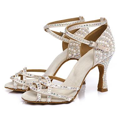 abordables Meilleures Ventes-Femme Chaussures de danse Faux Cuir Chaussures Latines Talon Talon Bobine Personnalisables Chair / Utilisation / Entraînement