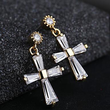 9ec09b9c3 Women's Silver Hoop Earrings S925 Sterling Silver Earrings Cross Jewelry  Gold / Silver For Wedding Gift 1 Pair