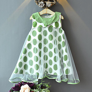 feaff4a3b cheap Girls' Dresses-Kids Girls' Sweet Street chic Polka