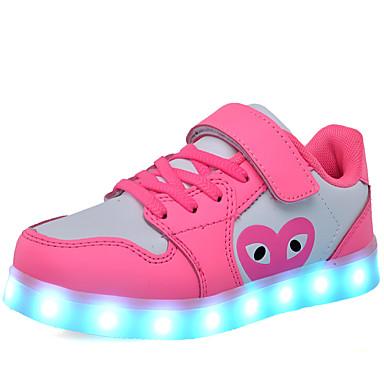baratos Sapatos de Criança-Para Meninas Couro Ecológico Tênis Little Kids (4-7 anos) / Big Kids (7 anos +) Inovador / Tênis com LED Caminhada Azul / Rosa claro / Branco / Preto Primavera / Outono / Festas & Noite