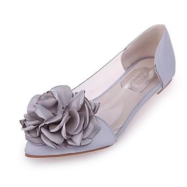Kadın's Düz Ayakkabılar Düz Taban Saten İlkbahar yaz Siyah / Pembe / Gümüş