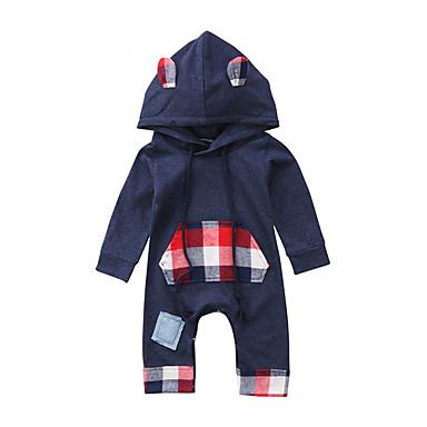 povoljno Odjeća za bebe Za dječake-Dijete Dječaci Aktivan / Osnovni Print Dugih rukava Jednodijelno Navy Plava