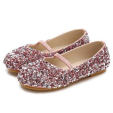baratos Sapatos de Criança-Para Meninas Sintéticos Rasos Little Kids (4-7 anos) / Big Kids (7 anos +) Sapatos para Daminhas de Honra Lantejoulas Roxo / Azul / Rosa claro Primavera / Outono
