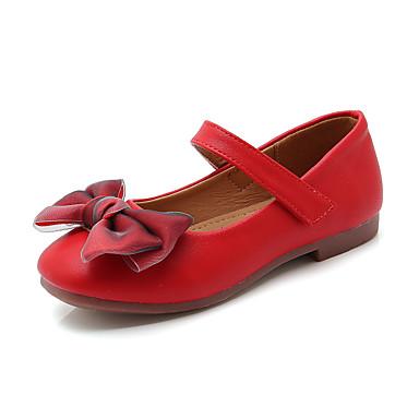 baratos Sapatos de Criança-Para Meninas Couro Ecológico Rasos Little Kids (4-7 anos) / Big Kids (7 anos +) Bailarina Preto / Vermelho / Rosa claro Primavera / Outono