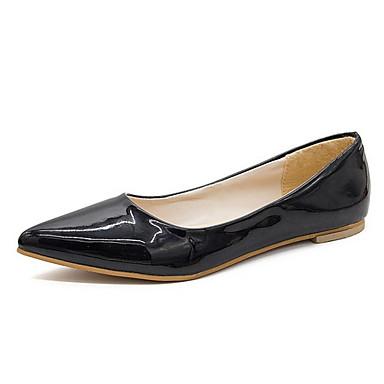 Kadın's Düz Ayakkabılar Düşük Topuk Sivri Uçlu PU Yaz Siyah / Beyaz / Kırmzı