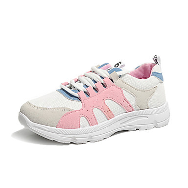 Kadın's Atletik Ayakkabılar Düz Taban Sentetikler Koşu Yaz Yeşil / Pembe