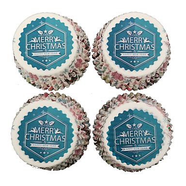 voordelige Feestbenodigdheden-Kerstmis / Festival Feestaccessoires Taartaccessoire Met patroon Puur papier Kerstmis / rustieke Theme