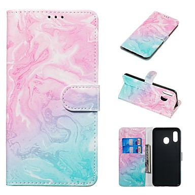 cheap Marble Case-Case For Samsung Galaxy A20e / A7(2018) Magnetic / Flip / with Stand Full Body Cases Marble Hard PU Leather for Galaxy A9(2018)/A10/A30/20A/A40/A70/A9 2018/A3 2016/A5 2017/A3 2017/A5 2016