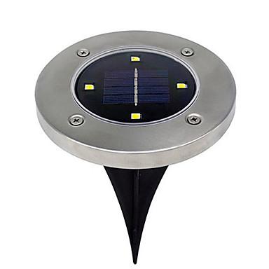 abordables Éclairage Extérieur-brelong 4leds solaire lumière souterraine extérieure lumière imperméable pelouse 1 pcs
