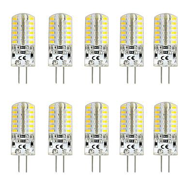 preiswerte Leuchtbirnen-10 Stück 3 W LED Doppel-Pin Leuchten 300 lm G4 T 48 LED-Perlen SMD 3014 Warmes Weiß Weiß Rot 12 V