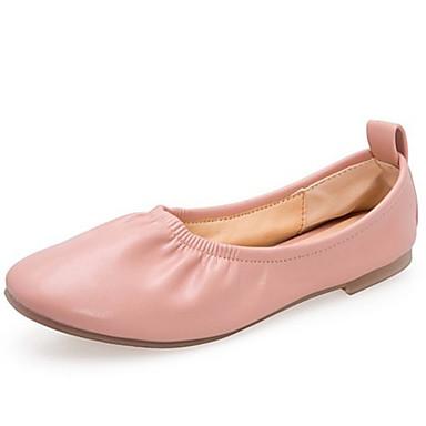 Kadın's Mokasen & Bağcıksız Ayakkabılar Düz Taban PU Bahar Siyah / Beyaz / Altın