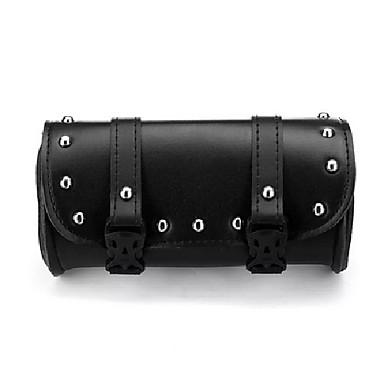 voordelige Auto-organizers-motorfiets voorvork gereedschap zadeltassen zak bagage zwart leer voor harley-