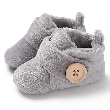 hesapli Kız Çocuk Ayakkabıları-Genç Erkek / Genç Kız Suni Kürk Çizmeler Bebekler (0-9m) / Bebek (9 milyon 4ys) İlk Adım Drak Red / Açık Mavi / Leopar Kış